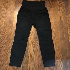 Black dress maternity pants